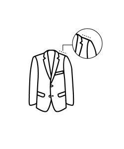 casaco reduzir ombro